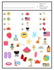 Free Summer Find It Game: 3 levels of difficulty