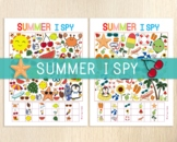 Summer I Spy Games, Counting Games, Look and Find, Summer