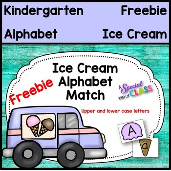 Ice Cream Alphabet Match Freebie