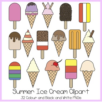 Summer Ice Cream Clipart