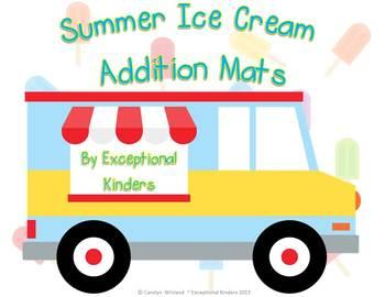 Summer Ice Cream Treats Addition Mats - Decomposing Numbers