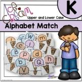 Uppercase and Lowercase Alphabet Match - Ice Cream