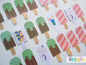 Summer Ice cream memory game