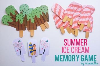 Summer Ice cream memory game