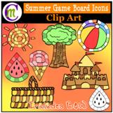 Summer Icon Game Boards Clip Art CM
