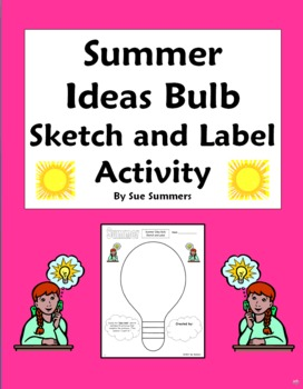Summer Ideas Bulb Sketch and Label Vocabulary Activity