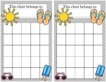 Summer Incentive Chart