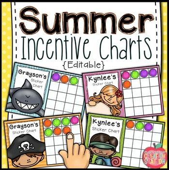 Summer Incentive Charts - Editable