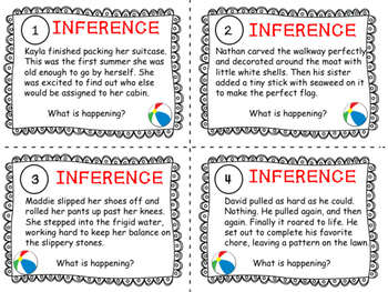 Summer Inference Task Cards