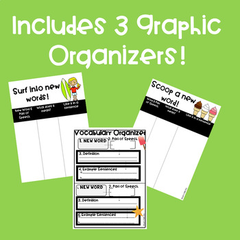 SUMMER Informational Text Reading with Graphic Organizers!