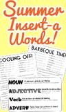 Summer Insert-A-Word Pack! (Part of Speech Activity)