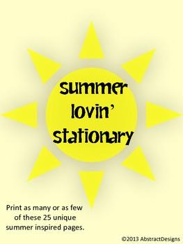 Summer Inspired Stationary