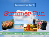 Summer Interactive Book: Future Tense Verbs & Language Development