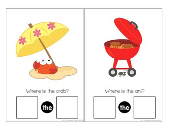 Summer Interactive Books: Pronouns, Prepositions, & Vocabulary