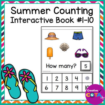Summer Interactive Counting Book
