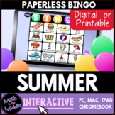 Summer Interactive Digital Bingo Game - End of Year Activi