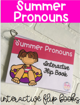 Summer Pronoun Interactive Flipbook!