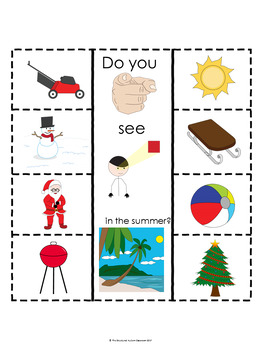 Summer Basic Concepts Interactive Notebook for Autism and Special Education