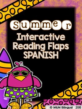 Summer Interactive Reading Flaps {SPANISH}