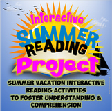 Interactive Summer Reading Activities Project {CCSS Aligned}