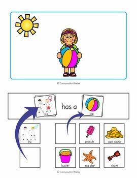 Summer Interactive Sentence Flips - Pronouns and Plurals