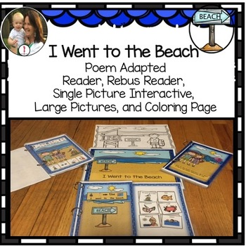 Summer Interactive Story Adapted 4 ways plus coloring sheet
