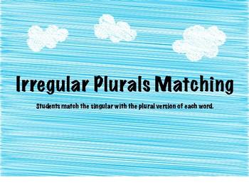 Irregular Plural Matching