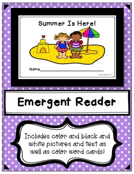 Summer Is Here Emergent Reader and word cards