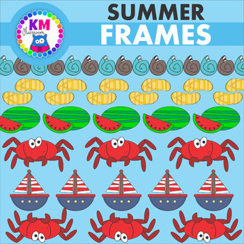 Summer Borders and Frames Clip Art