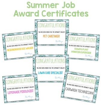 Summer Job Application & Descriptive Writing Toolkit for Google Slides