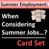 Summer Jobs Group Activity or Writing Prompts - FREE