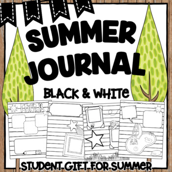 Summer Journal | Black and White Pages | Doodle Pages