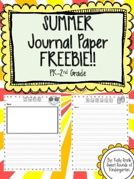 Summer Journal Paper- FREEBIE!