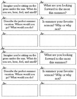 Summer Journal Prompt