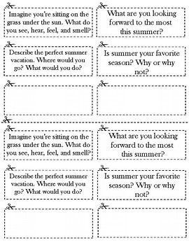 Summer Journal Prompt