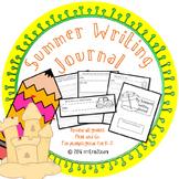 Summer Journal Prompts Kindergarten first and second