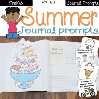 Summer Journal Prompts Task Cards