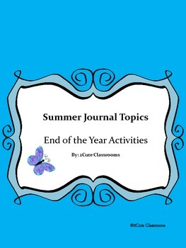 Summer Journal Writing Packett