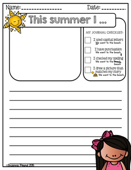 Summer Journal Writing Prompts {FREEBIE}