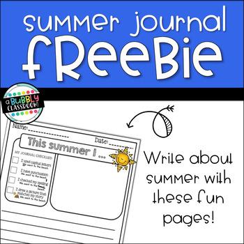 Summer Journal Writing Prompts {FREEBIE}
