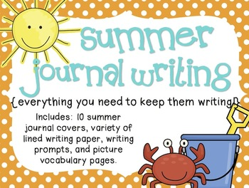 Summer Journal Writing {everything you need to keep them writing!}