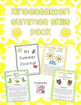 Summer Journal and Skills Pack - Kindergarten