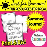 Summer Journal for Summer Break