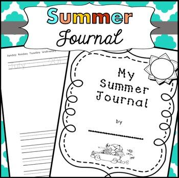 Summer Journals kindergarten, first grade