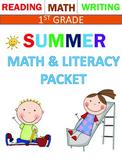 Summer Review packet for 1st grade -Rising to Grade 2 in September