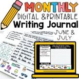 Summer June July Monthly Digital & Printable Writing Journ