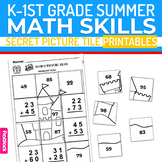 Summer K-1st Grade Math Skills Worksheets | Secret Picture Tiles