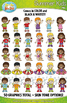 Summer Kid Characters Clipart Set — Includes 50 Graphics!