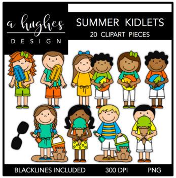 Summer Kidlets Clipart {A Hughes Design}