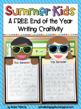 Summer Kids {A FREE End of the Year Writing Craftivity}